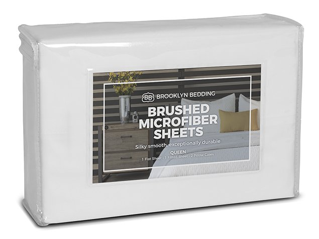 Brushed Microfiber Sheets - Packaging