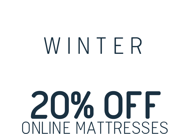 Winter Sale 20% off online mattresses