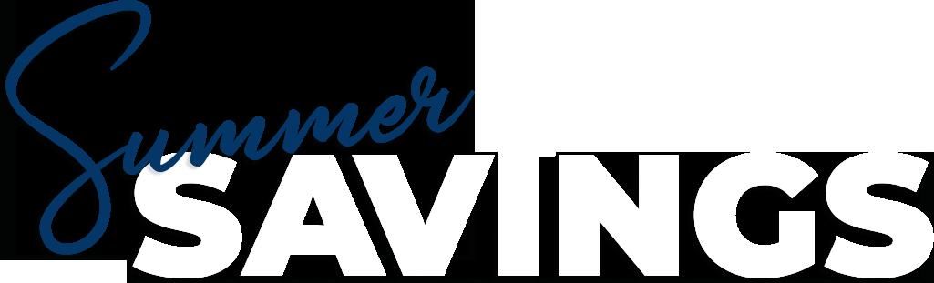 Summer Savings Sale!