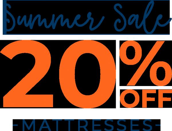 Summer Sale - 20% off - Mattresses